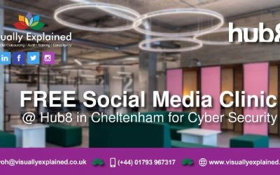 Free Social Media Clinic on Cyber Security in Cheltenham poster
